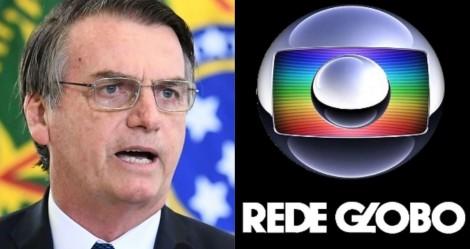 """Bolsonaro impõe condição para renovação da concessão com a Globo: """"Contas em dia"""" (veja o vídeo)"""