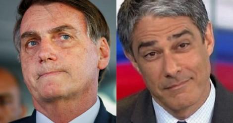 """Bolsonaro manda recado para Bonner: """"Agora está sentindo na pele o que é ter um filho caluniado"""" (veja o vídeo)"""
