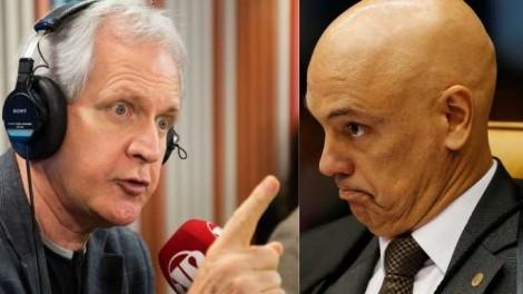 """Augusto Nunes sobre Alexandre de Moraes: """"Ele só investiga, persegue e pune gente inocente"""""""