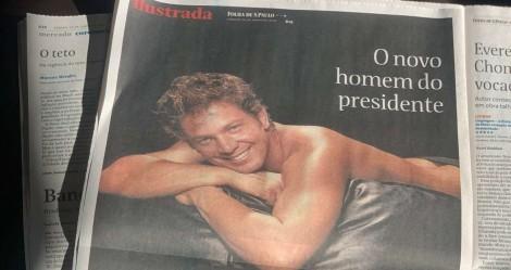 """Indecente, Folha publica foto seminu e chama Mário Frias de """"homem do presidente"""""""