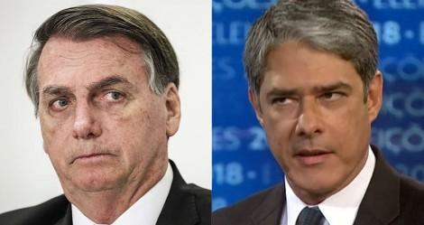Pesquisa mostra que o povo confia mais em Bolsonaro do que em Bonner