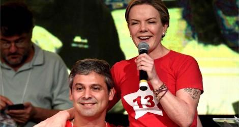 Gleisi, deputada eleita pelo Paraná, vai morar no Rio com namorado Lindbergh
