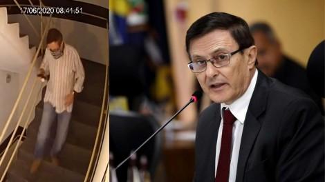 Conselheiro de Tribunal de Contas desce 16 andares para jogar R$ 500 mil em cheques no lixo (veja o vídeo)