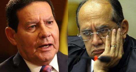 """Mourão exige pedido de desculpas de Gilmar: """"Se tiver grandeza moral, deve se retratar"""""""