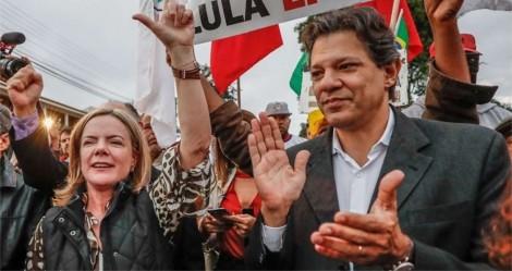 """Delírios e maracutaias do PT: Gleisi arma """"arapuca"""" para Haddad"""