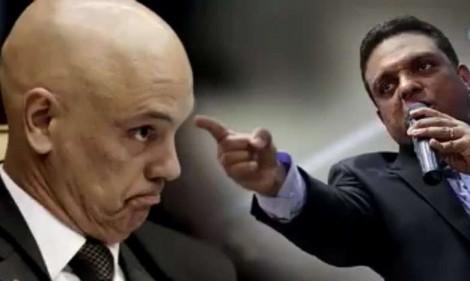 """Justiça manda tirar do ar vídeo em que Moraes é chamado de """"lixo"""", """"canalha"""" e """"tirano"""""""