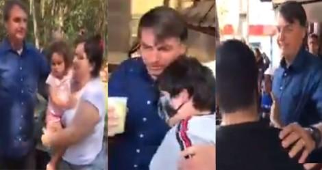 A simplicidade do presidente com o povo de Foz do Iguaçu (veja o vídeo)