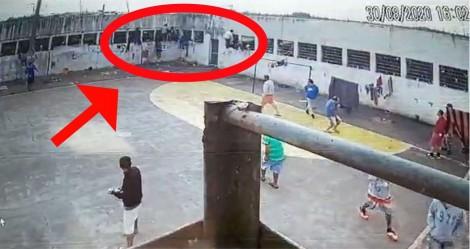 Flagrante: Detento foge de presídio no RS (veja o vídeo)