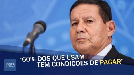 General Mourão defende que ricos paguem para estudar em universidades públicas (veja o vídeo)