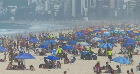 Novo domingo com praias lotadas no Rio (veja as fotos)