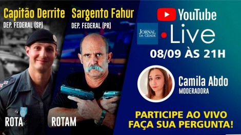 Sargento Fahur e Capitão Derrite são os convidados da live TV JCO de hoje! (veja o vídeo)