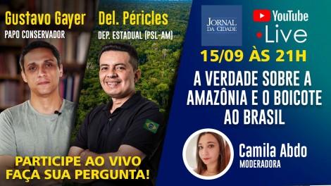 Live TV JCO reúne debatedores para falar sobre as queimadas na Amazônia e o boicote covarde ao Brasil