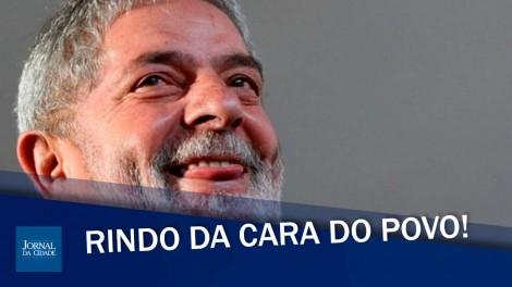 Lula acumula denúncias de corrupção, mas segue livre, rindo da cara do povo (veja o vídeo)