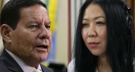 """Diante de jornalista que escreveu livro sobre """"tormenta com Bolsonaro"""", Mourão não perdoa (veja o vídeo)"""