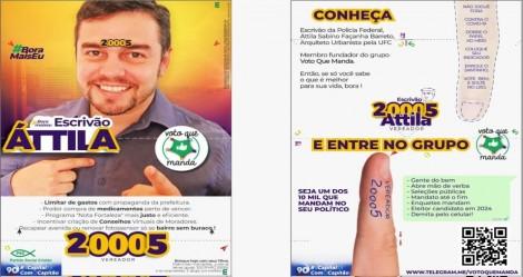 Policial federal, candidato a vereador em Fortaleza, cria 'santinho' que protege eleitor na hora do voto (veja o vídeo)