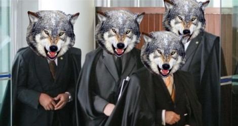 O lobby bom e os lobos maus