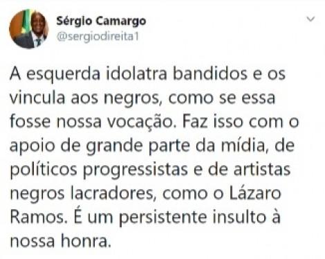 470x0_1603046490_5f8c8c5a9677f_hd Presidente da Fundação Palmares critica ator Lázaro Ramos e a 'idolatria' a bandidos