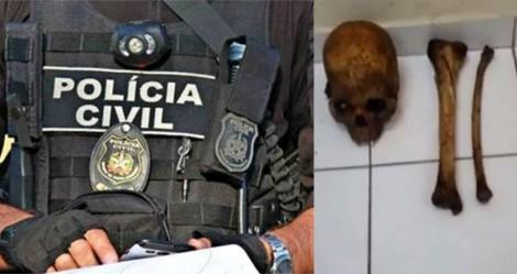Polícia prende homem com ossada humana para 'rituais' (veja o vídeo)