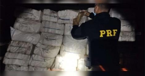 Na cola do tráfico, PRF apreende 1,2 tonelada de maconha no Pará (veja o vídeo)