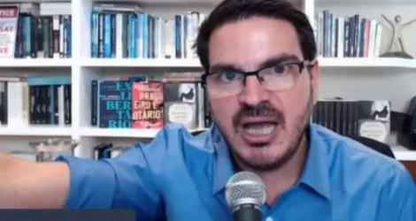 """Constantino detona jornalista que incentivou depredações e o ódio: """"Patota do selo azul"""""""