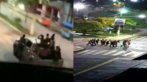 Bandidagem solta, impõe terror pela segunda noite consecutiva (veja o vídeo)