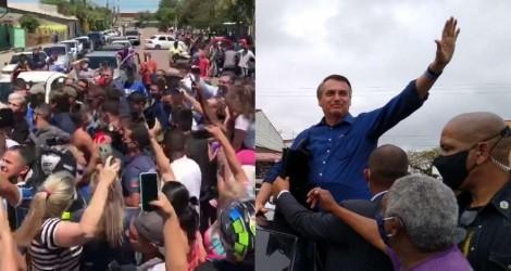 Bolsonaro faz parada surpresa em cidade do RS e é festejado pela população gaúcha (veja o vídeo)
