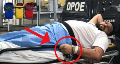 Mesmo sem mobilidade nas pernas, jornalista é algemado. Enquanto isso, criminosos ganham a liberdade (veja o vídeo)