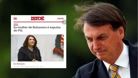 """""""IstoÉ"""" inventa """"ex-mulher"""" para Bolsonaro, é desmentida, divulga correção, mas não pede desculpas"""