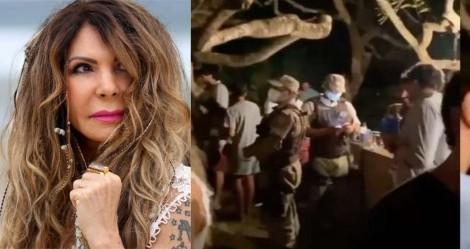 Polícia é chamada e acaba com festa na casa da cantora Elba Ramalho (veja o vídeo)