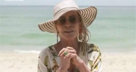 Sem máscara na praia, Ana Maria Braga critica pessoas sem máscara na praia e vira motivo de chacota na web (veja o vídeo)