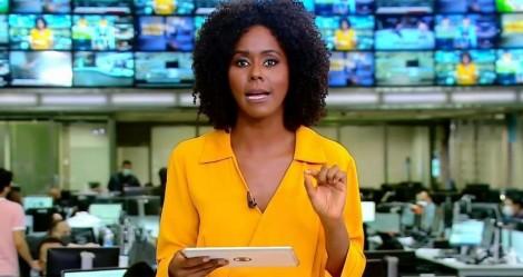 """Ao vivo, Jornal Hoje mostra """"cenas impróprias"""" e Maju Coutinho vira chacota na web (veja o vídeo)"""