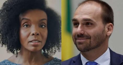 """Ex-BBB, médica do """"fique em casa"""", tenta esconder hipocrisia, mas perde na justiça para Eduardo Bolsonaro"""