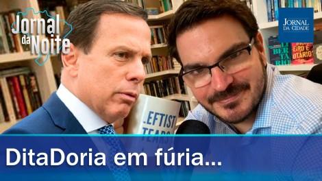 AO VIVO: João Doria em fúria ataca jornalista / O futuro da Câmara e do Senado (veja o vídeo)
