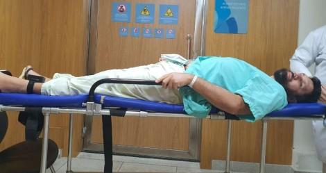 Tornozeleira eletrônica impede Eustáquio de fazer ressonância e prejudica ainda mais o seu tratamento (veja o vídeo)