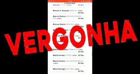 A lista da vergonha: 364 deputados assinaram o atestado de óbito da democracia