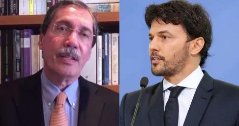 """Ministro Fabio Faria enquadra Merval Pereira e desmente """"fake news"""": """"Sua nota é caluniosa e maldosa"""""""
