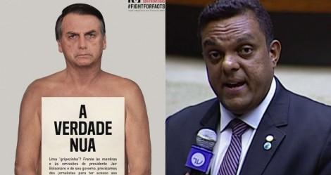 Deputado apresenta notícia-crime na PGR contra ONG que fez campanha com 'Bolsonaro nu'
