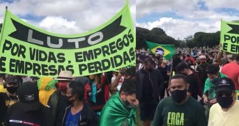 AO VIVO: Pelo fim do lockdown, trabalhadores fazem manifestação em Brasília, em frente ao Palácio Buriti (veja o vídeo)