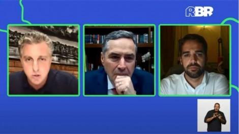 Em evento, Barroso se alinha a Huck e adota discurso contra Bolsonaro