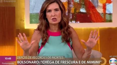 "Ao vivo na Globo, Fátima Bernardes ""desce o nível"" e ataca o presidente (veja o vídeo)"