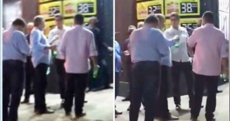Em Cuiabá, prefeito descumpre decreto e é flagrado bebendo cerveja na rua (veja o vídeo)