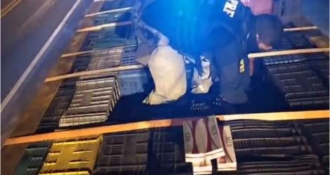 PRF faz no Piauí a maior apreensão de cigarros contrabandeados do ano