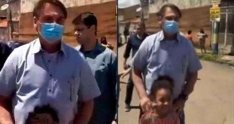 Bolsonaro visita comunidade pobre no entorno de Brasília e relatos de miséria decorrentes da pandemia são revelados (veja o vídeo)