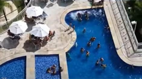 Jornal troca o título de reportagem e omite que condomínio com aglomeração era o prédio do prefeito de Santos (veja o vídeo)
