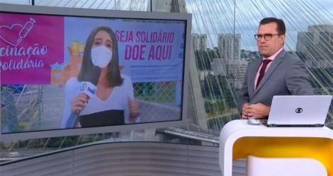 """Aos gritos de """"globo Lixo"""", homem interrompe reportagem ao vivo e deixa apresentador irritado (veja o vídeo)"""