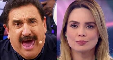 """Ratinho perde a paciência e detona Sheherazade: """"Mau-caratismo e ingratidão! Estava lá na Paraíba escondida"""" (veja o vídeo)"""
