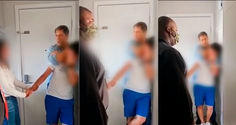 O impressionante vídeo de Lacombe imobilizando bandidos que assaltaram sua casa (veja o vídeo)