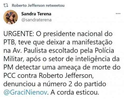 """470x0_1619899749_608db56525d15_hd URGENTE: """"Ameaças"""" do PCC fazem Roberto Jefferson sair escoltado pela PM de manifestação"""