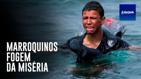 Jovem marroquino toma atitude desesperada para chegar até a Espanha (veja o vídeo)