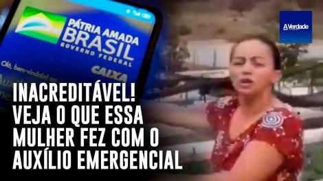 Veja o que essa mulher fez com o auxílio emergencial e se emocione (veja o vídeo)